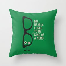 Nerd Is the New Black Throw Pillow