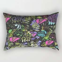 Quirky Patches by Enkhzaya Enkhtuvshin Rectangular Pillow