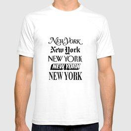 I Heart New York City Black and White New York Poster I Love NYC Design black-white home wall decor T-shirt