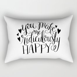 Ridiculously Happy Rectangular Pillow