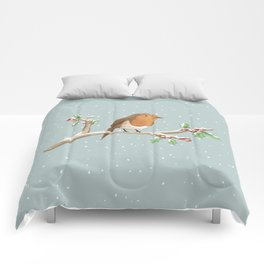 Robin on Branch Comforters
