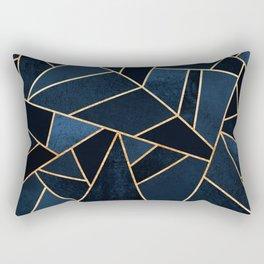 Navy Stone Rectangular Pillow