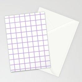 Grid Pattern Lavender Stationery Cards