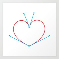 Bezier Love Art Print
