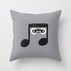 Analog Music Throw Pillow