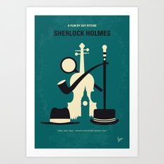No555 My Sherlock Holmes minimal movie poster Art Print