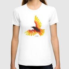 Hope bird. Womens Fitted Tee White MEDIUM
