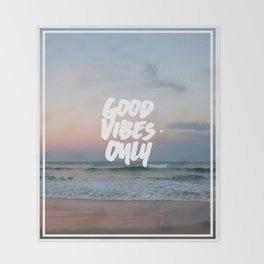 Good Vibes Only Beach and Sunset Throw Blanket