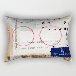 Sinners And Saints Rectangular Pillow