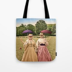 Two Pretty Kitties: Out for a Stroll Tote Bag