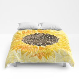 Sunflower Yellow Comforters
