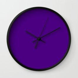 Solid Bright Purple Indigo Color Wall Clock