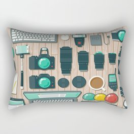 Photographer's Workspace Rectangular Pillow