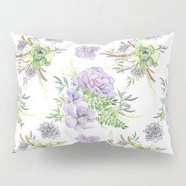 Desert Succulents Purple and Green Pillow Sham