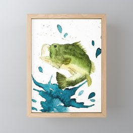 Bass Fishin' Framed Mini Art Print