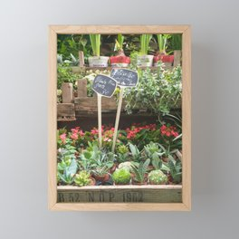 Parisian Plant Sale Framed Mini Art Print