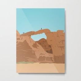 Burdah Rock Bridge, Wadi Rum Desert Metal Print