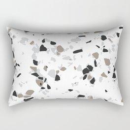 Terrazzo White Rectangular Pillow