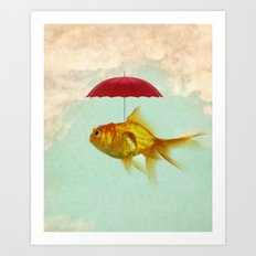 under cover goldfish 02 Art Print
