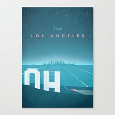 Vintage Los Angeles Travel Poster Canvas Print