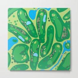 golf course green Metal Print