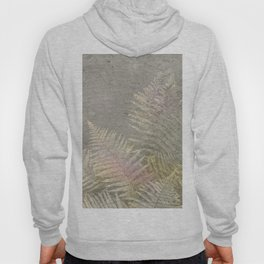 Fossil Rose Gold Fern on Brushed Stone Hoody