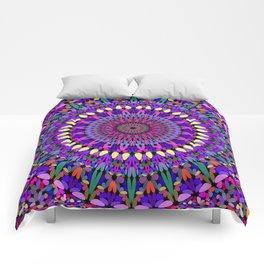 Bohemian Blossom Mandala Comforters