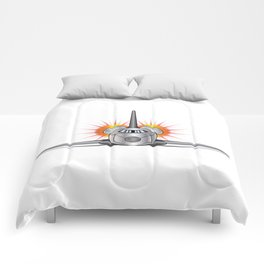 Speeding Space Shuttle Comforters