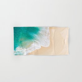 Sand Beach - Waves - Drone View Photography Hand & Bath Towel