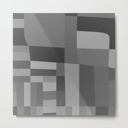49th and Oak Black and White Metal Print
