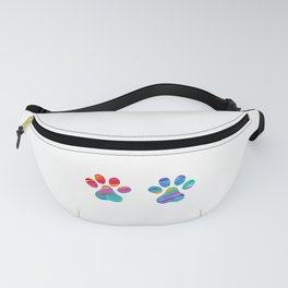 Two Cats Colorful Paws Fanny Pack