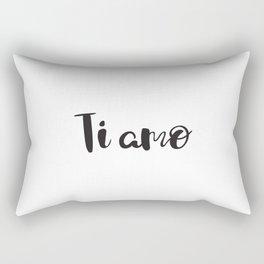 I Love You in Italian Rectangular Pillow
