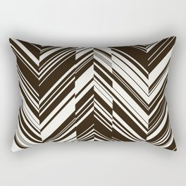 Zig zag monochrome pattern. Rectangular Pillow