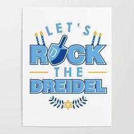 Rock the Dreidel   Jewish Hanukah Hanukkah Chanukah Poster