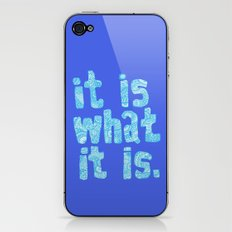 What it is Blue iPhone & iPod Skin