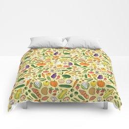 Veggie Friends Doodle Comforters