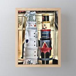 Snowman and Nutcracker Dialog Framed Mini Art Print