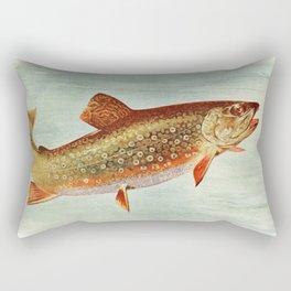 Vintage Brook Trout Illustration (1914) Rectangular Pillow