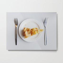 Vegan Peach Pie in Iceland Metal Print