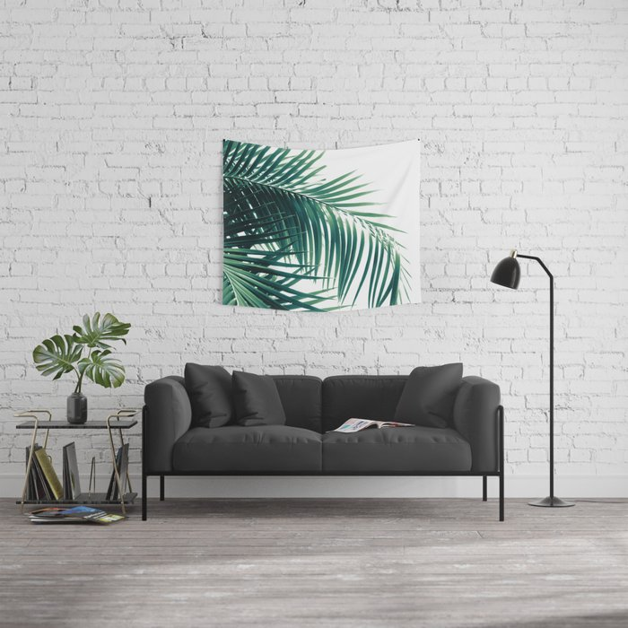 Palm Leaves Green Vibes #6 #tropical #decor #art #society6 Wall Tapestry