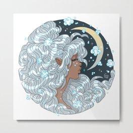 Snow Moon Elf Metal Print