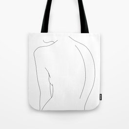Minimal line drawing of women's body - Alex Tote Bag
