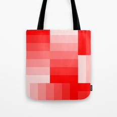 Shades of Red Gradient Tote Bag