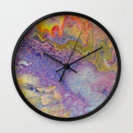 Acrylic Pour III Wall Clock