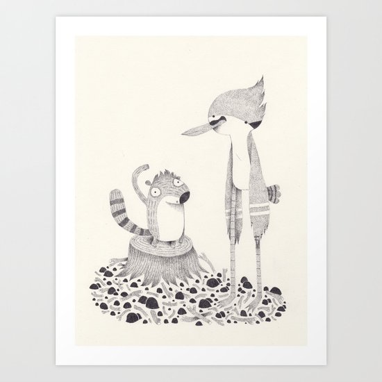 regular show Art Print