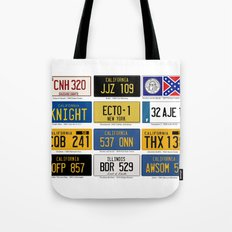 Famous Number Plates Tote Bag