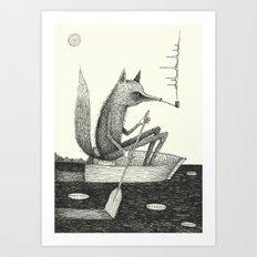 'Across The Lake' Art Print
