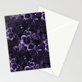 Moody florals purple by Odette Lager Stationery Cards