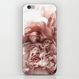 Blush Pink Floral iPhone Skin
