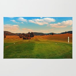 Summer season at the golf club | landscape photography Rug